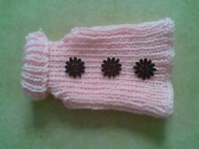 "Dog Jumper Dog Jacket 6"" hand knitted XXS XS S Teacup Terrier Pet Clothing"
