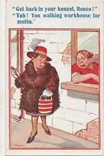 POSTCARD  COMIC  Get back in your kennel  Bonzo....