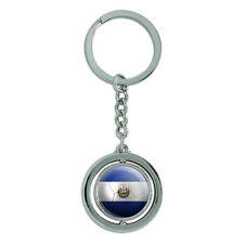 El Salvador Flag Soccer Ball Futbol Football Spinning Metal Key Chain Keychain