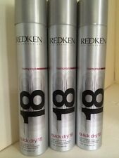 3 CANS Lot REDKEN QUICK DRY 18 INSTANT FINISHING HAIR SPRAY 11 Oz each Hairspray