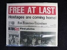 1981 SAN FRANCISCO EXAMINER HOSTAGES FREED FROM IRAN