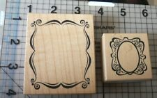 PSX Personal Stamp Exchange Wood Mounted Rubber Stamp 2 Frame shape stamps