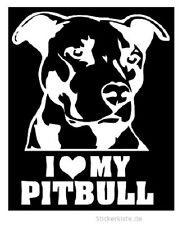 2 x JDM OEM Adesivo I Love My PITBULL CANE DOG ADESIVI 15 cm decal sticker