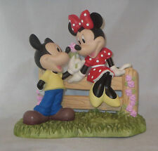 Mickey Mouse Minnie Precious Moments Our Love Has No Boundaries Roses Fence NWOB