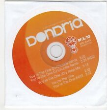 (FF805) Dondria, You're The One - 2010 DJ CD