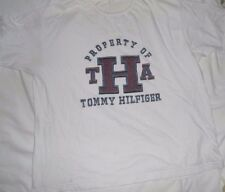 XXL 2XL TOMMY HILFIGER S/S WHITE GRAPHIC T-SHIRT VINTAGE PROPERTY OF THA COTTON