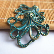 Hot 10pcs Antique Bronze Patina Octopus Connector Charms For FIY Fittings ACC
