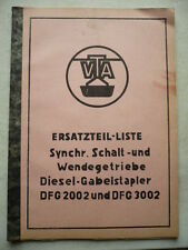 VEB DDR Forklift Spare parts list Instructions Transducer VTA Takraf DFG 2002