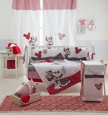 BRAND NEW DISNEY 4 PIECE RED MINNIE MOUSE CRIB BEDDING COT SET