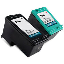 2 Pack HP 74XL 75XL Ink Cartridge OfficeJet J5780 J5783 J5788 J5790 J6405 J