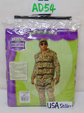 NEW HALLOWEEN OUTFIT UNIFORM MENS ADULT  X-LARGE DELUXE MILITARY CAMO FORCES