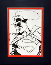 Animated CLARK KENT Changing to SUPERMAN PRINT Professionally Matted Ross art