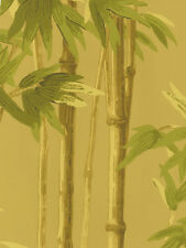 Paradise Handpainted Look Bamboo Stalks on Golden Beige Wallpaper 56643981