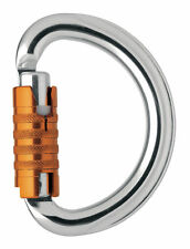 LOCKING SEMI-CIRCLE CARABINER MOSCHETTONE OMNI TRIACT LOCK PETZL