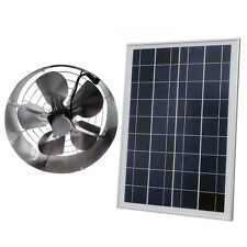 "DC12V 25W Solar Panel Module & 14"" 3000 CFM 65W Vent Fan Air Cooling for Wine"