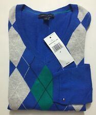 NWT Tommy Hilfiger Women's Long Slv V-neck Sweater Pullover size M Retail $59.50