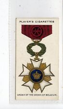 (Jd6789) PLAYERS,WAR DECORATIONS & MEDALS,ORDER OF THE CROWN BELGIUM,1927,#39