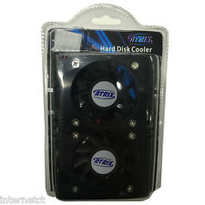 "ATRIX DUAL 50MM FAN HARD DISK COOLER - 4 PIN MOLEX SUITABLE FOR ALL 3.5"" DEVICES"