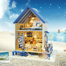 DIY Handcraft Miniature Project The Aegean Sea Beach House Wooden Dolls house