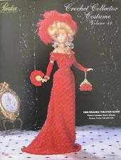 Paradise Crochet Collector Costume Fashion Doll Pattern Beaded Theater Gown 44