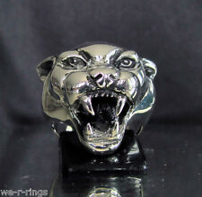 Jaguar Ring cat panther puma Sterling Silver .925     BB07/S