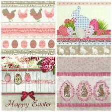 4x Carta Singola Tavola FESTA TOVAGLIOLI PER DECOUPAGE Craft Pasqua Mix di Colori Pastello