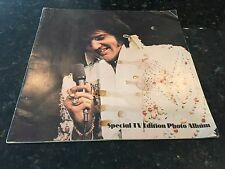 Signed Special TV Edition Photo Album ELVIS PRESLEY circa 1974