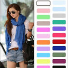 Womens Girls Soft Crinkle Long Pure Candy Scarf Wrap Shawl Stole 20 Colors 1