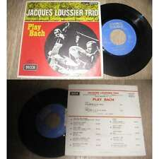 JACQUES LOUSSIER TRIO - Play Bach French PS 7' Decca Golden Hit Parade 1971 Jazz