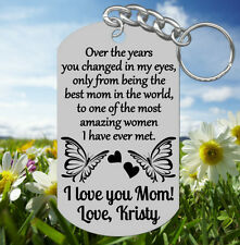 Best Mom ~ Amazing Woman, Engraved Keychain Gift for Mom, Personalized FREE