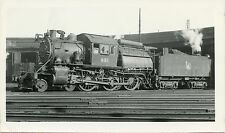 6B008 RPPC 1949 CRR CENTRAL RAILROAD NEW JERSEY CAMELBACK LOCOMOTIVE #631