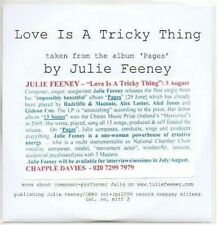 (AB853) Julie Feeney, Love Is A Tricky Thing - DJ CD