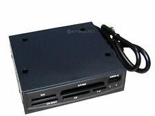 "USB 2.0 Black Multimedia Internal Memory Card Reader fits 3.5"" Floppy Drive Bay"