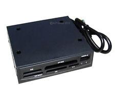Usb 2.0 Negro Multimedia Tarjeta De Memoria Interna Lector se adapta a 3.5 Pulgadas Floppy Drive Bay