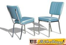 CO-25 Blue Bel Air Möbel 2 Stühle Diner Küchenmöbel im Style der 50er Jahre