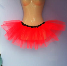 flo orange halloween  tutu mini skirt underskirt 2 layers stretches 8-18 rave