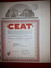 CEAT  Certificato da 1 Azione 1972