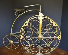 Old Fashioned Brass Bicycle Wine Bottle Rack
