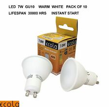 10 X ECOLA GU10  7W LED High quality  Reflectors  Light Bulb  WARM WHITE