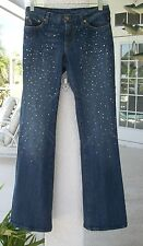 Rare BEBE Jeans~Size 27~CRYSTAL DETAILED~Drop Dead Gorgeous~Very Gently Worn