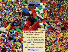 LEGO - 1000+ Pcs Starter Booster Kit - Bricks Plates Tiles Blocks Bulk Lot Set
