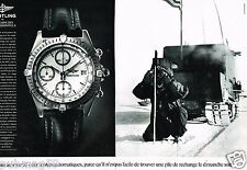 Publicité advertising 1990 (2 pages) La Montre Breitling