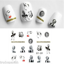 Nail Art Water Transfers Nail Art Stickers Decals Marilyn Monroe Gel Polish (09)