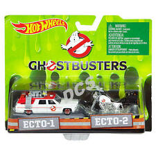 HOT WHEELS 2016 ECTO 1 AND ECTO 2 GHOSTBUSTERS CARTOON CAR 1/64 HOBBY EXCLUSIVE!