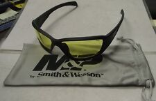 Smith & Wesson MP108-41-ID Shooting Glasses Full Frame With Amber AF Lens, Black