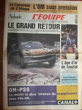 L'Equipe du 14/2/2000 - Rallye de Suède, Peugeot  - Tauziat - Judo français