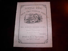 Little Eva; Uncle Tom's Guardian Angel Sheet Music 1852 John Jewett and Co. VG