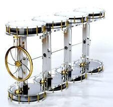SOLAR EIGHT CYLINDER Stirling engine - no steam machine - amazing physics toy
