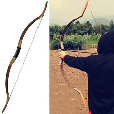 50# Handmade Archery Recurve Bow Traditional Longbow Horsebow Hunting Shooting