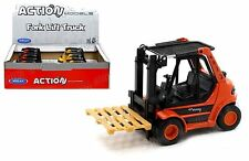 """Welly 5.5"""" Diecast Model Fork Lift Truck With Pallet Orange Color"""